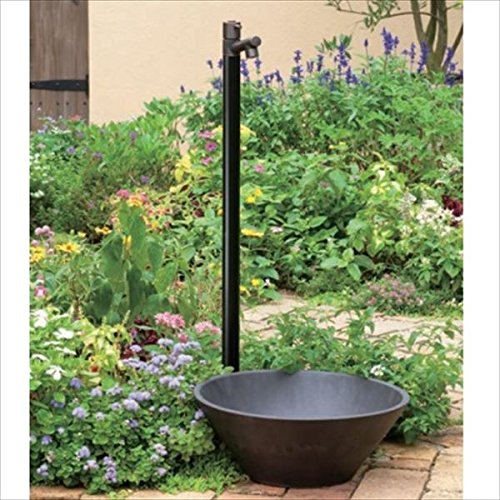 オンリーワン ジラーレ ブラックブロンズメッキ 水栓柱 TK3-SABB (専用蛇口) +水鉢セット ブラックブロンズメッキ