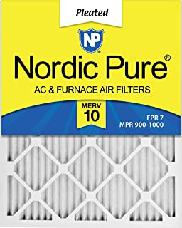 Nordic Pure 20x25x1 MERV 10 Pleated AC Furnace Air Filters, 6 Pack, 6 PACK, 6 PACK
