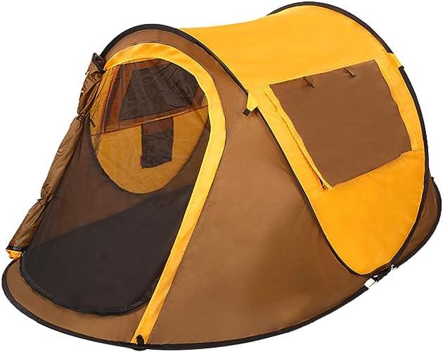 YAMI Camping Tente 3-4 Personnes Type De Bateau en Or Local Libre De Construire Vitesse Ouvert Tente Imperméable à l'eau Simple Couche 247  160  100cm