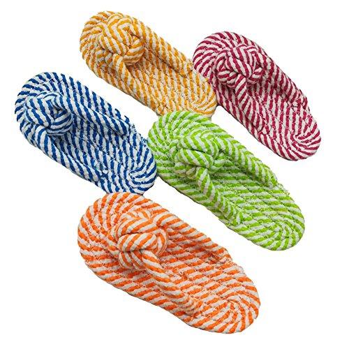 Tenchif Niedliche Hunde-Hausschuhe in Form eines Knotens, Kauspielzeug für Hunde, Welpen, zufällige Farbe