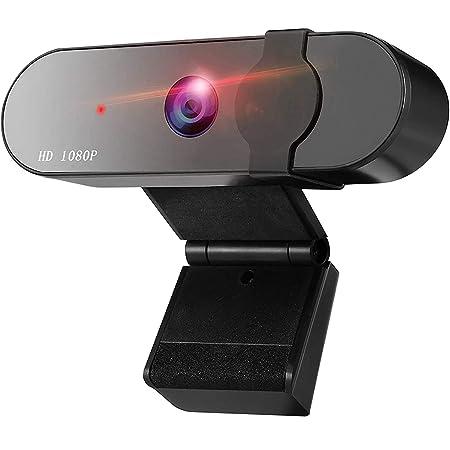 GeekerChip Webcam 1080p Full HD con Microfono,PC Webcam con Webcam Cover,USB 2.0 Videocamera,per Laptop,Computer,PC, Desktop,per Video dal Vivo,Videochiamate,Lezioni Online e Giochi