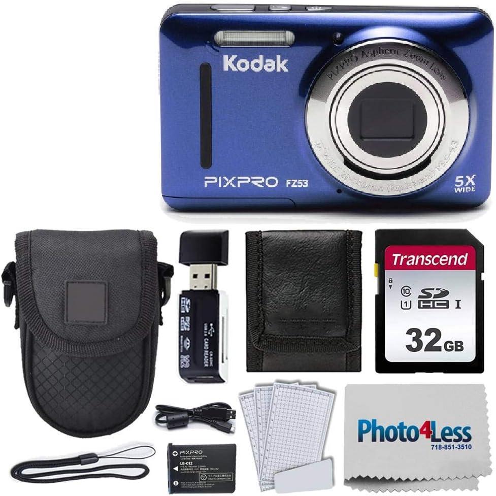 Kodak New Shipping Free Japan Maker New PIXPRO FZ53 16.15MP Digital Black Blue Point + Camera