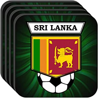 Sri Lanka National Team Soccer Set of 4 Coasters