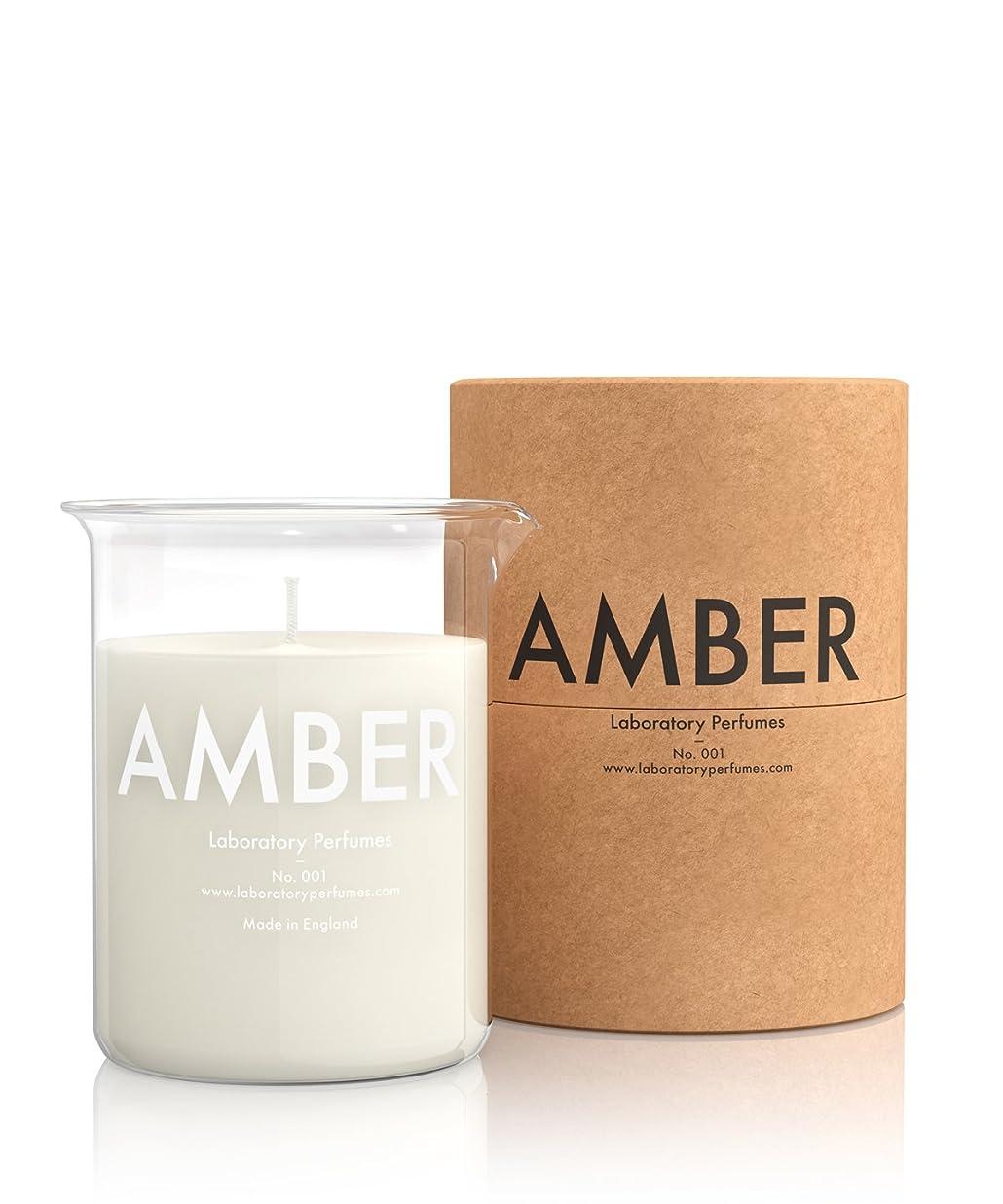 ピュー救援滑りやすいLabortory Perfumes キャンドル アンバー Amber (フローラルウッディー Floral Woody) Candle ラボラトリー パフューム