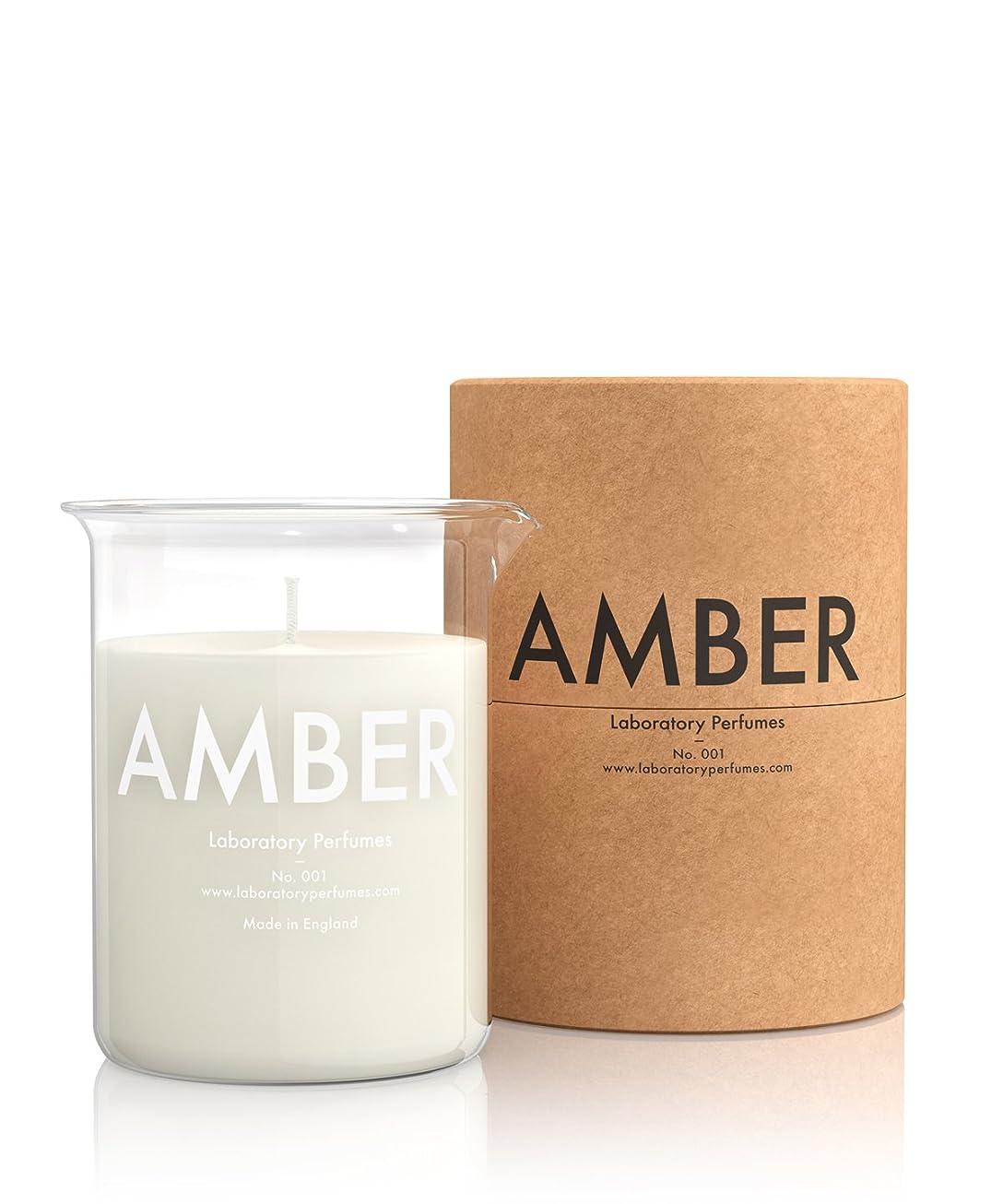 教育贅沢今までLabortory Perfumes キャンドル アンバー Amber (フローラルウッディー Floral Woody) Candle ラボラトリー パフューム