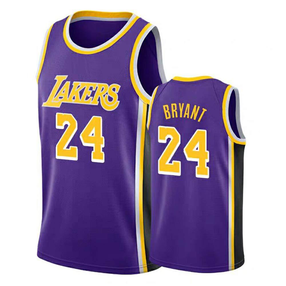 AMJUNM Lakers 24# Kobe Bryant City Edition Bordado Cosido Jersey de los Hombres Camiseta de Baloncesto: Amazon.es: Deportes y aire libre