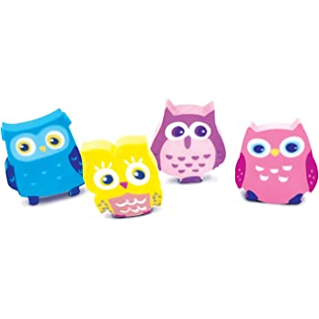 The Piggy Story 'Woodland Animals' Hoot Owl Set of 4 Die-Cut Mini Erasers in Gift Box