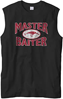 Men's Master Baiter Fish Lure, Funny Fishing Sleeveless T-Shirt