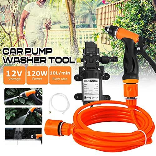 120 W 12 V 10 L/min coche lavadora pistolas bomba 200 PSI alta presión limpiador limpieza eléctrica auto coche cuidado portátil lavadora