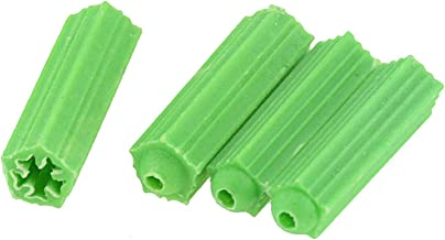 50PCS Plastic Expansion Pipe Green M6 M8 Wall Plug Rubber Anchor Plug Self Tapping Screw Expansion Tube Tool (Specificatio...