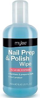 Mylee Prep + Wipe Gel Limpiador de Residuos de Esmalte de Uñas de Gel 250ml Preparación y Después del Cuidado Manicura ...