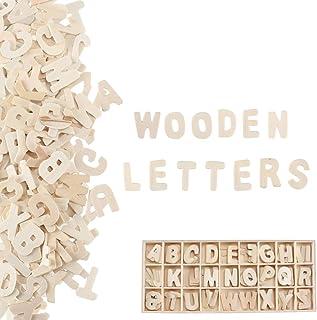Pulluo 130 Piezas Letras de Madera de Alfabeto A-Z Letras