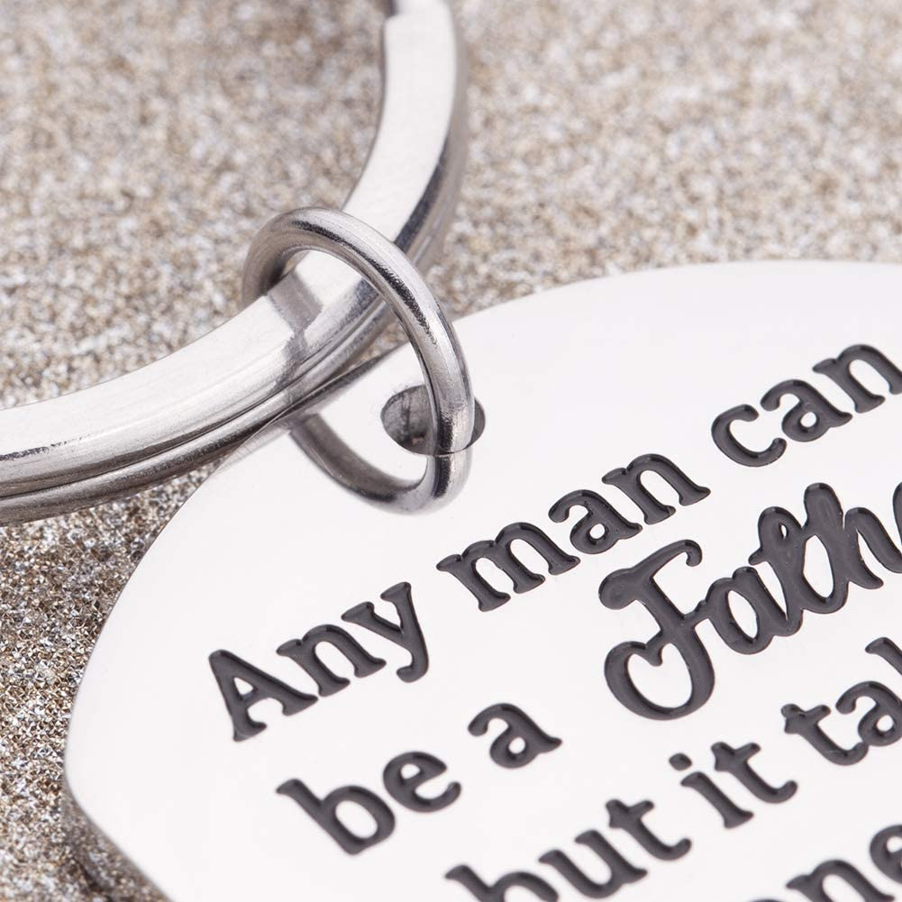 Father's Day Gifts Step Dad Keychain Gifts for Stepfather Father in Law Birthday