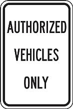 Accuform FRP245RA Engineer-Grade Reflective Aluminum Parking Sign, Legend