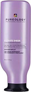 Pureology | Hydrate Sheer Moisturizing Conditioner | For Fine, Color Treated Hair | Lightweight | Sulfate-Free | Silicone-Free | Vegan