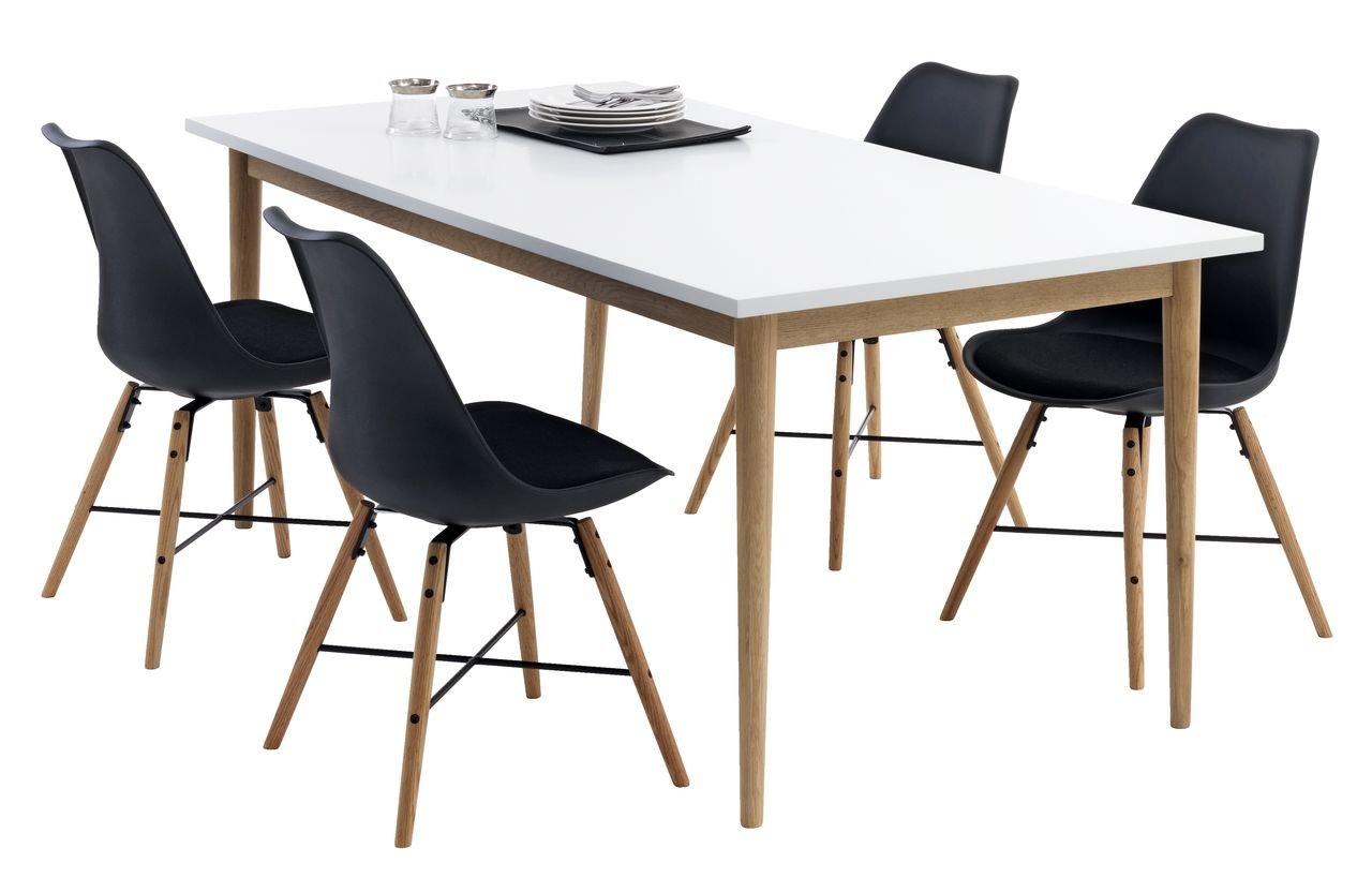 Mesa de comedor JYSK Risskov L180cm/roble blanco: Amazon.es: Hogar