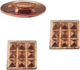 Divya Mantra Combo of 2 Pure Copper Plates with 9 Wish Pyramids Vastu Dosh Nivaran Yantra Door Sticker & Feng Shui 1.5 Inch Tortoise/Turtle with 2 Inch Diameter Water Plate for Good Luck, Money-Brown