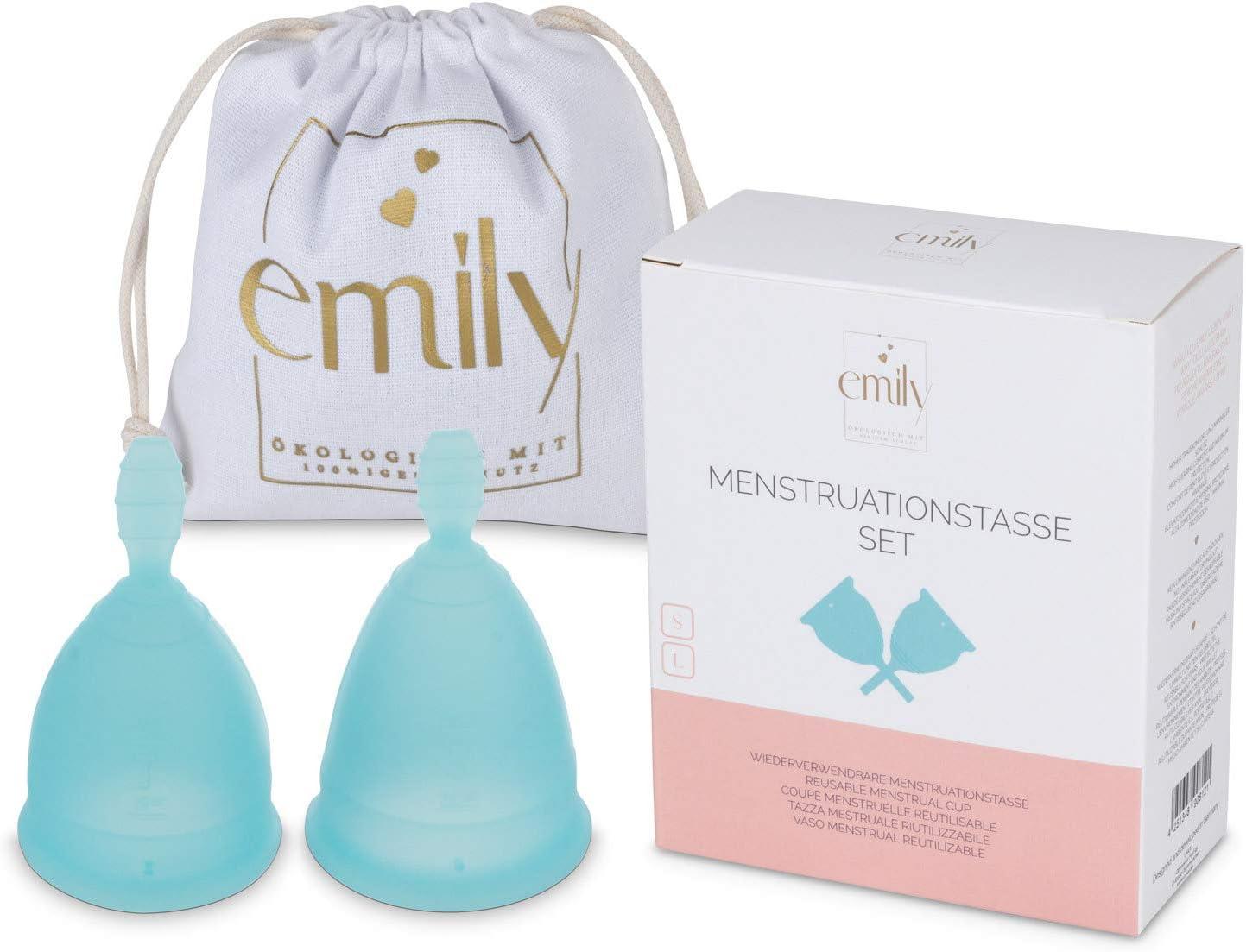 Taza menstrual reutilizable 2 tamaños en un juego ...