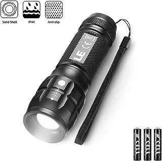 Taschenlampe BINWO Tragbarer Zoombar Superhelle 2500 XM-L2 2 x Taschenlampe