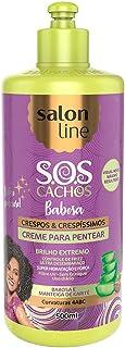 Creme para Pentear - S.O.S Cachos Babosa Crespos a Muito Crespos, 500 ml, Salon Line, Salon Line