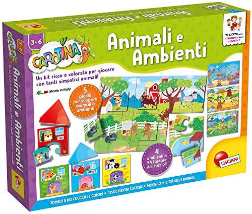 Lisciani Giochi 60146 - Gioco Carotina Maxi Animali e Ambienti
