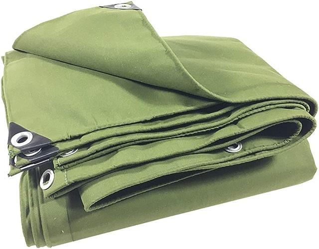 MSF Baches Bache Verte résistante avec Oeillets, baches imperméables, Grande Tente, abri de Bateau, de Camping-Car ou de Piscine, 17,6 oz m2 (Taille   5m×7m)
