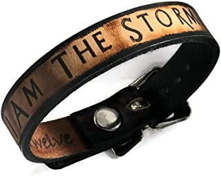 7Twelve I Am The Storm Inspiration Collection Leather Bracelet 1/2
