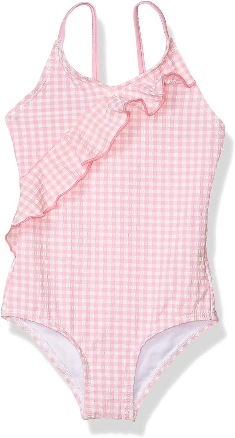 Kensie - Girl's Outerwear Kensie Seersucker Gingham One Piece Swimsuit: Clothing, Shoes & Jewelry