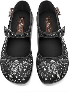 Hot Chocolate Design Chocolaticas Dark Gothic Canvas Women's Mary Jane Flat Shoes, Fallen Angels 2, 6