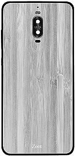 جراب هاتف هواوي ميت 9 برو خشبي أبيض مخطط