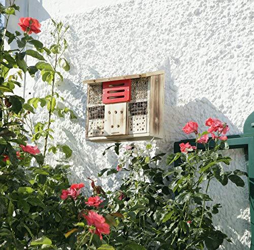 Windhager Insektenhotel ZUR LINDE, Insektenhaus Nistplatz Brutplatz, Schutz für viele Insekten, aus massivem Fichten- und Pappelholz, braun, 06991