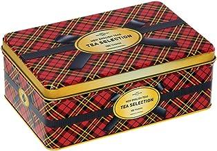 New English Teas - English Tea Selection Breakfast, Earl Grey, Afternoon 100 Tea Bags - Red Tartan