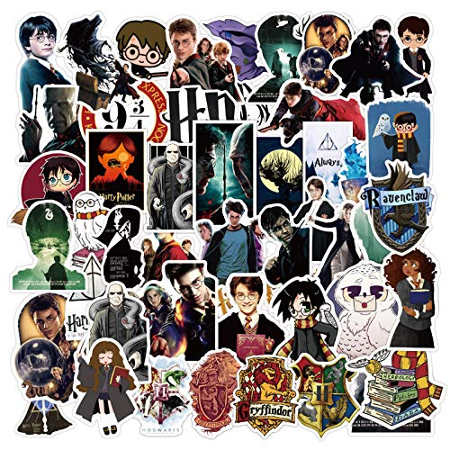 100 PCS H-a-rr-y Po-t-t-er Movie Stickers for LapVinyl Waterproof Stickers for Kids Teens Adults Water Bottle Skateboard Luggage Laptop