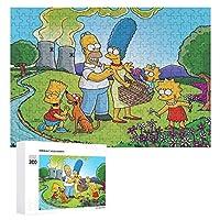 シンプソンズ ジグソーパズル 300個 木製パズル 知的減圧 楽しいパズル 学生 子供 大人のパズル おもちゃ アニメ 漫画 壁飾り