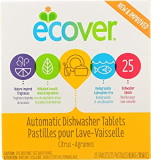 Ecover (NOT A CASE) Automatic Dishwasher Tablets Citrus Scent 25 Tablets
