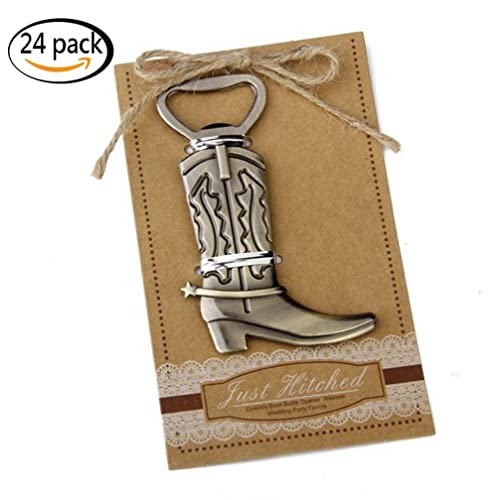 Youkwer 24 PCS Unique Skeleton Cowboy Boots Shaped Bottle Opener with  Escort Tag Card for Wedding e44b087ff6fa