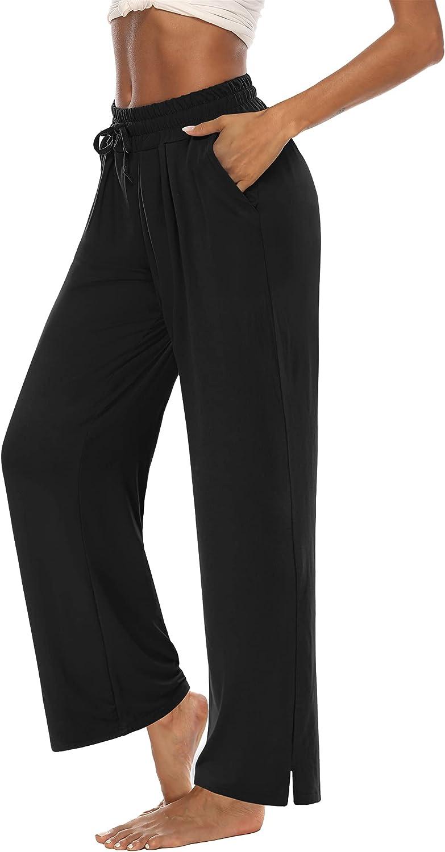 DIBAOLONG Womens Fixed price for sale Latest item Capri Pants Wide Leg Loose Dra Crop Comfy