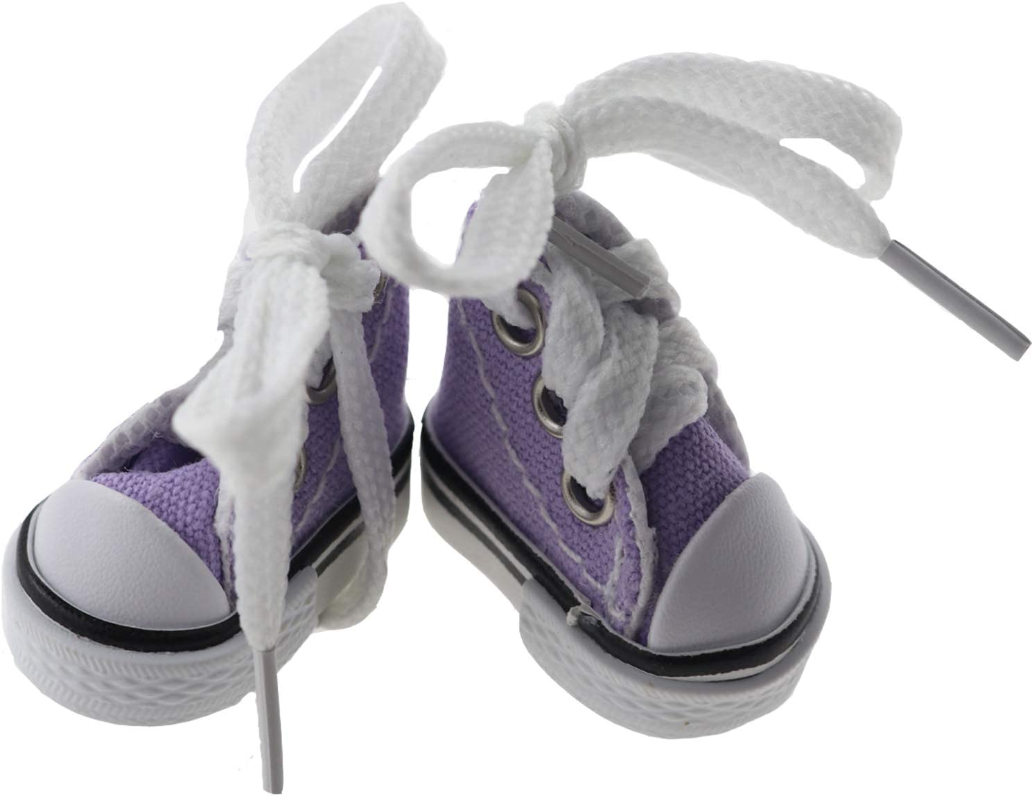 Setaria Viridis 3.5cm Canvas Shoes for 1/3 BJD Doll Fashion Mini Black Shoes Dollhouse and Home Decoration (Purple)