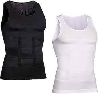Hoter Mens Body Shaper Slimming Vest, Men's Compression Base Layer Slim Compression Muscle Tank Shapewear