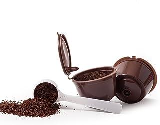 3 CAPSULES POUR CAFÉ RÉUTILISABLE REFILLABLE RECARGABLES DOLCE GUSTO + 1 cuillerée à café