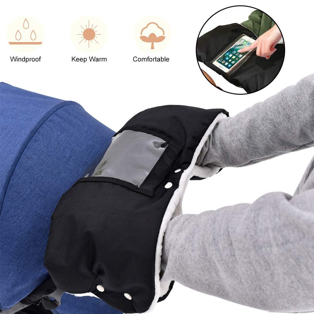Pram Gloves, Stroller Hand, Pram Mitten, Pram Pushchair Fleece Gloves,  Anti-Freeze Waterproof Extra Thick Warm Winter Baby Stroller Gloves for All  Stroller and Buggy (Black)- Buy Online in Pakistan at Desertcart