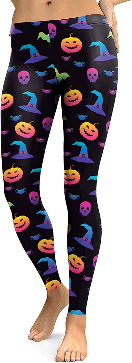 Selling For G and PL Max 44% OFF Women's Costume Print Halloween Strechy Leggings