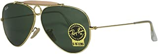 Ray Ban RB3138 shooter 001 Gold Sunglasses 62mm