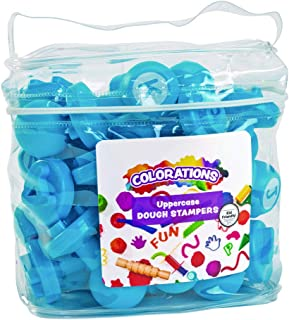 Colorations Easy Grip Uppercase Learning Stamp Toy for Preschool Toddler Kids ABC Learning, Birthday Party, School Classroom, Education Toy (Item # DOUGHUP)