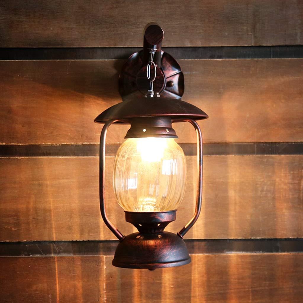 Azul L/ámpara de queroseno vintage Linterna de aceite r/ústico para dormitorio al lado del pasillo Sala de estar Restaurante
