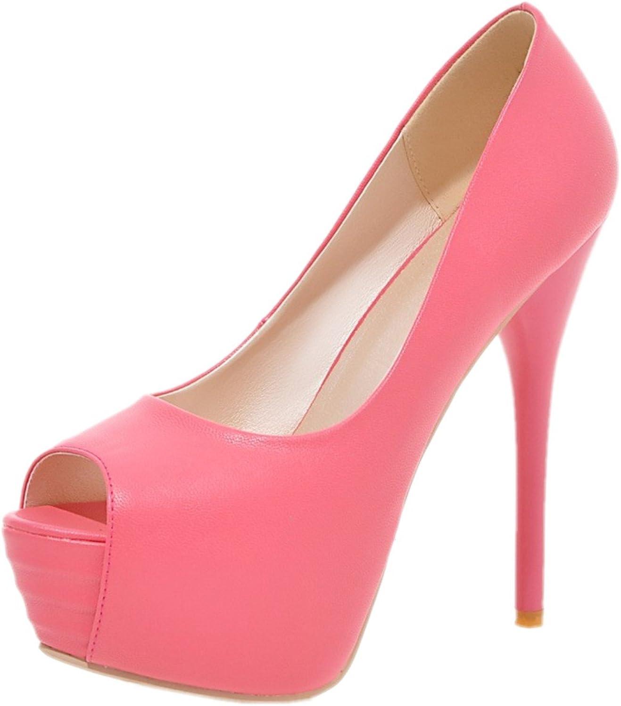 Rongzhi Womens Heeled Sandals Pumps High Heels Stiletto Platform Slip On Sexy Dress Party shoes Peep Toe