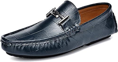 La mode masculine masculine souliers, british souliers, pois de chaussures, en cuir feignant chaussures hommes,bleu,quarante - trois  bonnes offres