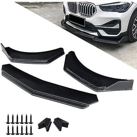 Black Esenlong 4pcs ABS Universal Car Body Spoiler Front Bumper Lip Splitter Fins Trim