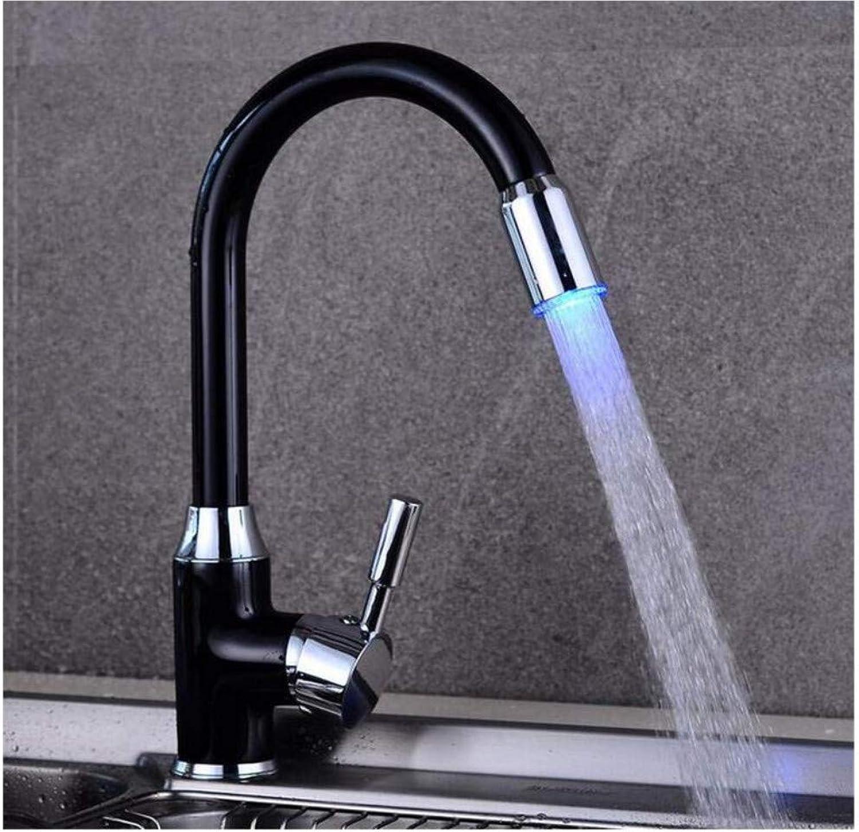 Kitchen Basin Faucet Led Light Wash Basin Mixer Tap Swivel Torneira