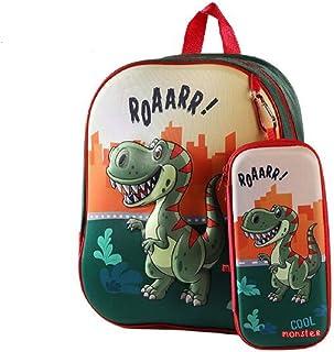Mochila Estuche Niño, Mochila de Dinosaurio Niños Mochila para Escolar Mochila Infantil Kindergarten Linda Mochila Dinosaurio 3D